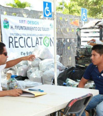 Reciben 57 toneladas de materiales durante once meses con programa 'Reciclatón' en Tulum