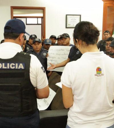 Atiende comuna demandas de policías en Tulum