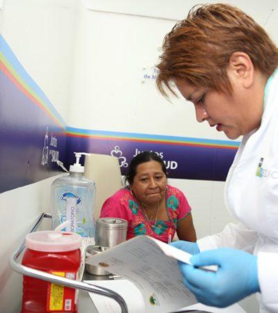 Brinda Ayuntamiento-SESA servicios de salud para la gente de Tulum con unidades móviles