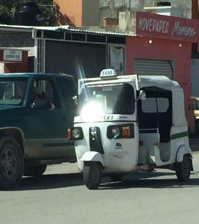 """""""HAY UN DESCONTROL EN TODO ESTO"""": Denuncia delegado inacción de Sintra en Puerto Aventuras en conflicto con mototaxistas"""