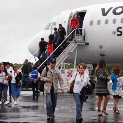 Crece 28% pasajeros vía aérea de México a Chetumal