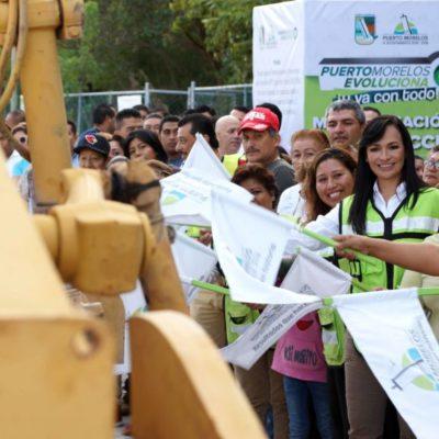 Dan banderazo a modernización y construcción de vialidades en Puerto Morelos