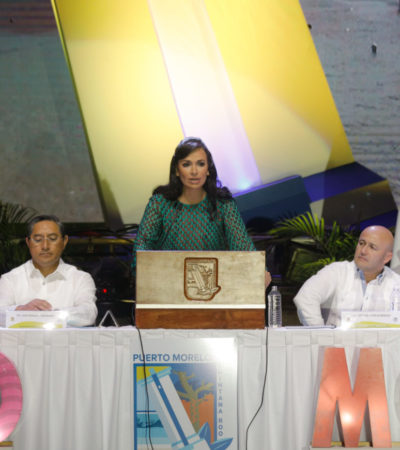 SEGUNDO ANIVERSARIO DE PUERTO MORELOS: En sesión pública, anuncia Alcaldesa regularización de dos asentamientos que albergan a 500 familias