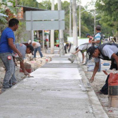 Presentan informe de avances de obras iniciadas a finales del año y que quedarán listas en el arranque del 2018 en Puerto Morelos