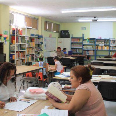 Implementan estrategias para combatir rezago educativo en Puerto Morelos con apoyo del IEEA