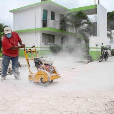 Dan nueva imagen a Leona Vicario con pavimentación de 15 calles con concreto hidráulico