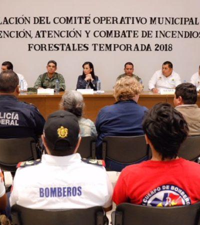 Instalan Comité Operativo contra Incendios Forestales en Puerto Morelos