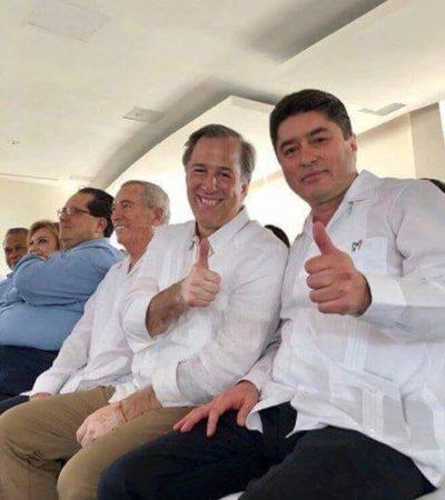 EL AMBIGUO MENSAJE DE MEADE EN QR: Dice que va contra los corruptos, pero se placea sin reparo con Félix González Canto, creador de Borge