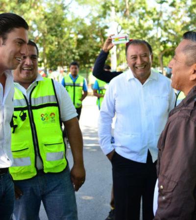 Realiza Alcalde recorridos por regiones con un paquete de servicios y asegura que en breve quedará normalizada la recolección de la basura en Cancún