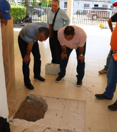Hallan caverna en escuela de Chetumal