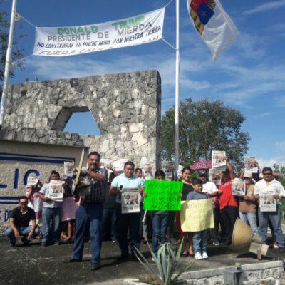 """ARMA 'CHANO' TOLEDO PROTESTA CONTRA CALICA: Arremete activista contra Trump y el negocio de exportación de material pétreo desde la Riviera Maya; """"es un presidente de mier…"""", dice"""