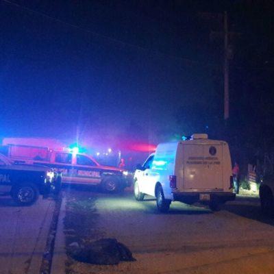 PRIMER EJECUTADO DEL 2018 EN CANCÚN: A los 15 minutos del Nuevo Año, matan a balazos a un hombre en la colonia irregular 'El Sheriff' de la Región 236