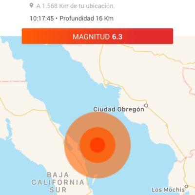 SISMO EN EL GOLFO DE CALIFORNIA: Reportan movimiento telúrico de magnitud 6.3 grados al norte de Loreto