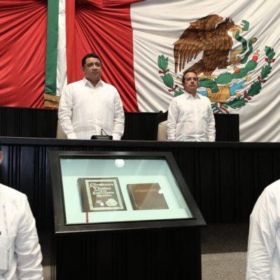 """43 ANIVERSARIO DE LA CONSTITUCIÓN DE QR: Asegura Gobernador que han derrotado la impunidad y que """"quien la hace la paga"""""""