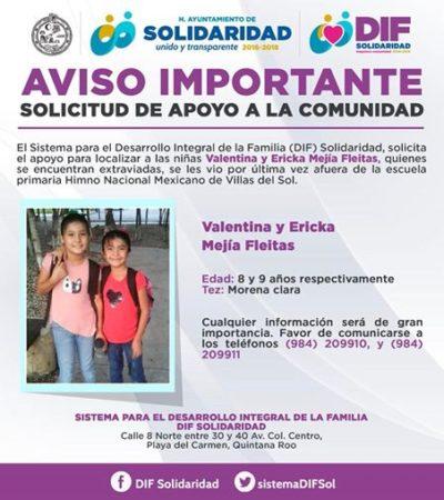 Hallan en Campeche a niñas desaparecidas en Playa del Carmen