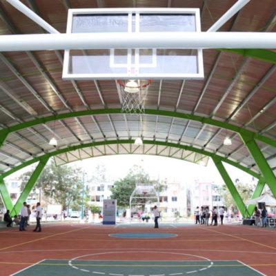 Inaugura Remberto domo deportivo de la SM 77 de Cancún