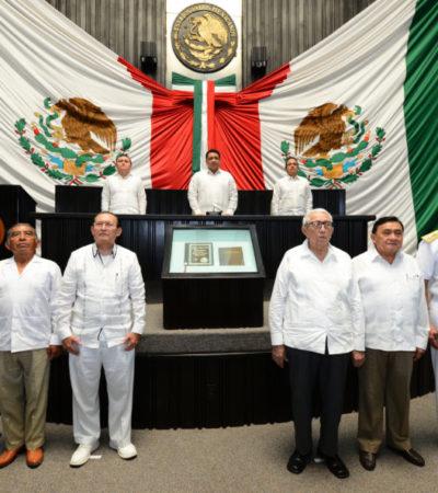 Conmemora Congreso en sesión solemne aniversario 43 de la Constitución de Quintana Roo