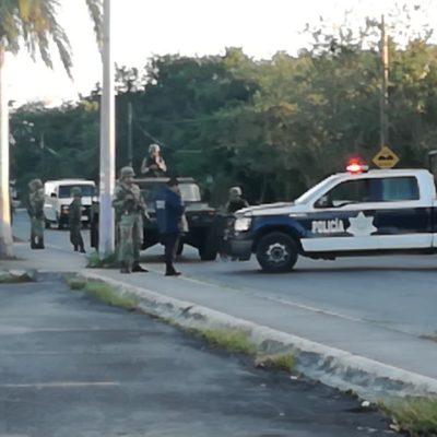 Falso 'enfrentamiento' moviliza a policías en Cozumel