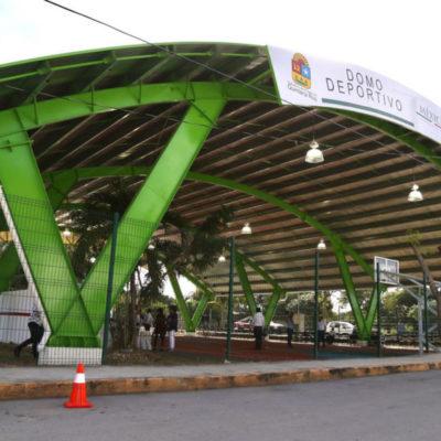Con inversión de más de 3.3 mdp, entrega Alcalde otro domo deportivo, ahora en la SM 237