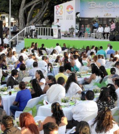 Preparan las 'Bodas Colectivas 2018' para el próximo 14 de febrero en Cancún