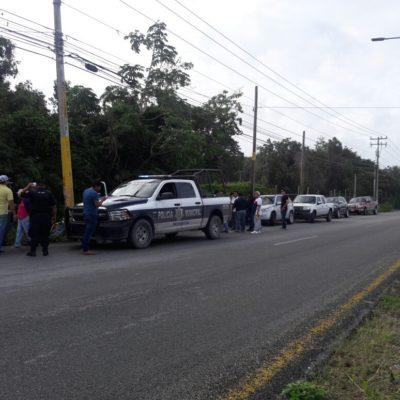 Impiden policías despojo de predios en la Huayacán de Cancún