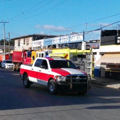Se incendia palapa en la 67 de Cancún