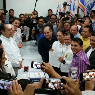 SUPERAN DIFERENCIAS Y RATIFICAN COALICIÓN: Registran PAN-PRD-MC ante el Ieqroo 'alianza total' en 11 municipios