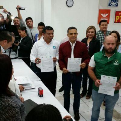 TENDRÁN ALIANZA PARCIAL: Registran PRI-PVEM-Panal coalición, pero no definen candidatos aún