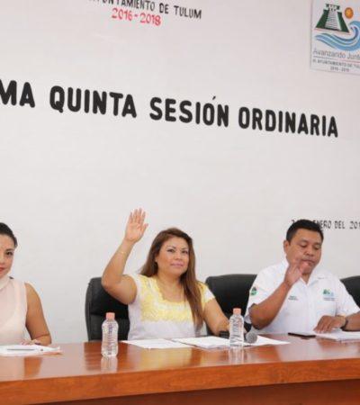 Aprueba Cabildo acuerdo del Bando de Policía y Gobiernoen Tulum