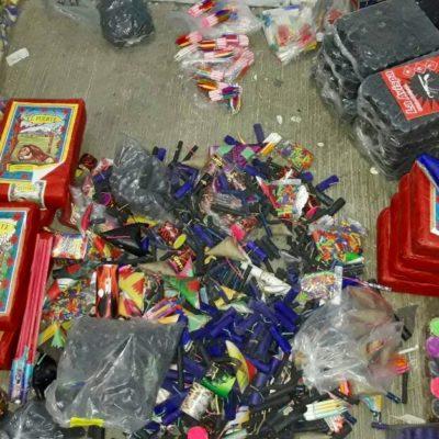 Detienen a sujeto con 7 mil productos de pirotecnia en Chetumal