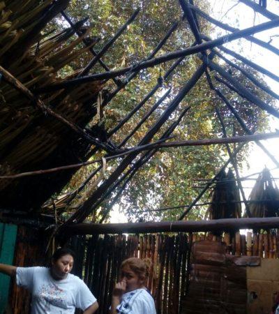 Arde casa en Tihosuco; acusan fuego intencional
