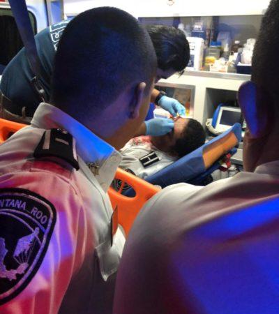 Agreden con machete a agentes de tránsito en Cancún