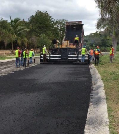 Rehabilitan Avenida Paseo Central en Playa del Carmen