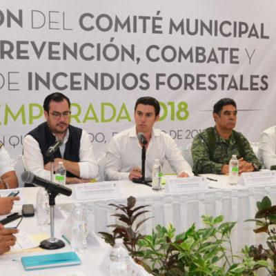 Instala Alcalde el Comité Municipal para la Prevención, Combate y Control de Incendios Forestales, Temporada 2018
