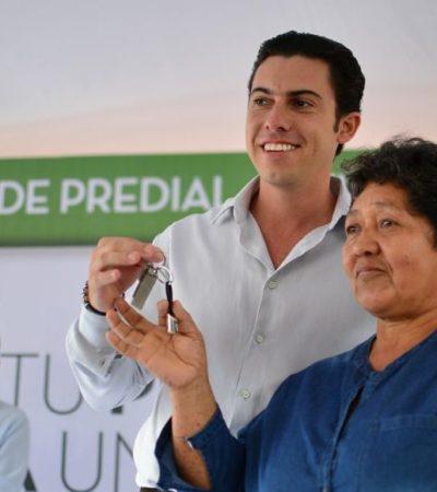 Entrega Alcalde premios del primer sorteo del Predial Anticipado 2018 en Cancún