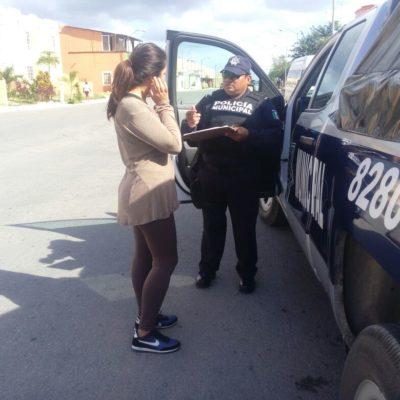 Buscan policías mostrar cercanía con vecinos de colonias en Playa