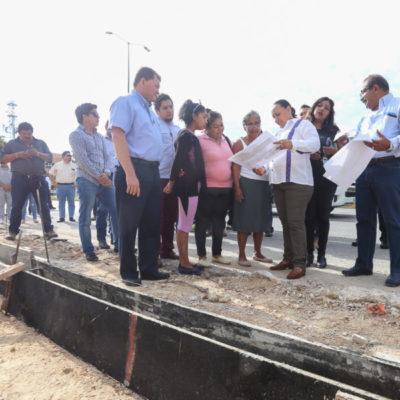 Verifican avances de la construcción del paradero en Misión del Carmen y del Centro de Salud en El Petén