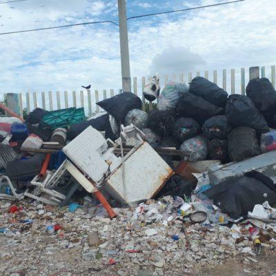 SE DESBORDA BASURERO DE ISLA MUJERES: Denuncian contaminación y mala imagen por pésima gestión del tiradero municipal