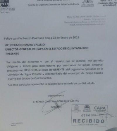 Renuncia Cristina González a CAPA para buscar candidatura en FCP
