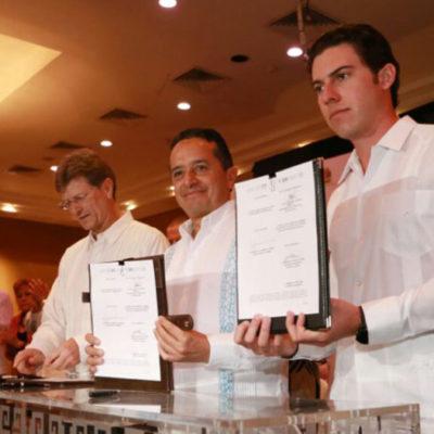 """""""Nuestra labor es defender a Cancún"""", dice Remberto Estrada durante firma de convenio de seguridad"""