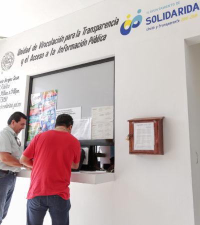 Asegura comuna de Solidaridad responder el 100% de solicitudes de información en transparencia