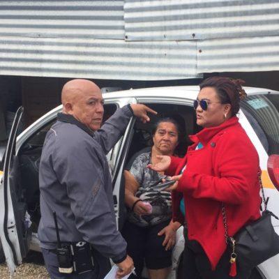 Taxista de Chetumal entra a una vivienda… con todo y su vehículo; una mujer lesionada