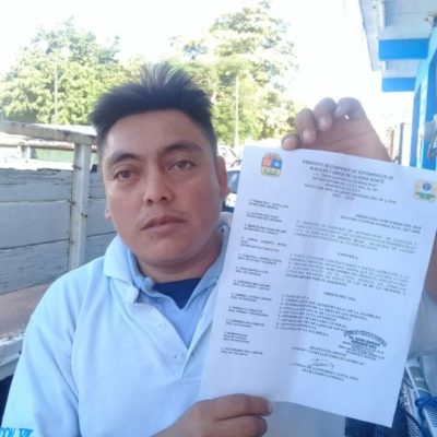 Desconocen a dirigencia de sindicato de taxistas de Nuevo Xcan