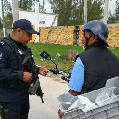 Instala Policía Estatal de la Fuerza Zona Norte 'filtros de seguridad y vigilancia' en Cancún