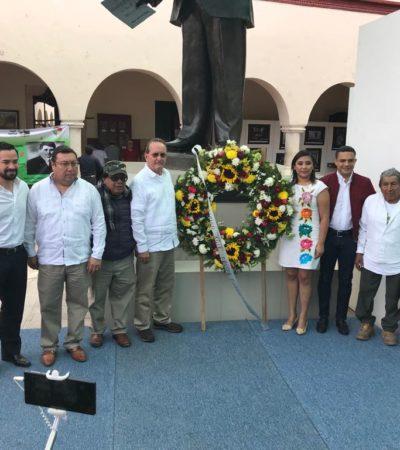 Hacen llamado a mantener la civilidad política en aniversario luctuoso de Felipe Carrillo Puerto