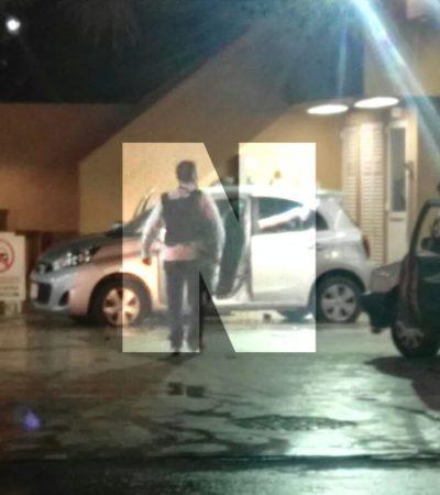 ATAQUE CONTRA MINISTERIALES EN CANCÚN   Saldo de un delincuente muerto y dos agentes heridos tras balacera en gasolinera de la Avenida Andrés Quintana Roo