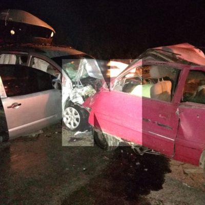 TRÁGICO CHOQUE EN LA CARRETERA: Un muerto y 5 heridos, saldo preliminar de accidente al sur de Tulum