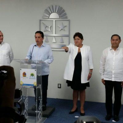 SALE JUAN VERGARA DE SEFIPLAN: Anuncia el Gobernador nombramiento de Johanet Torres Muñoz al frente de las finanzas de Quintana Roo