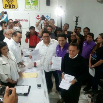 PROLONGAN LA INCERTIDUMBRE: Sin dar aún nombres de candidatos, se registra ante el Ieqroo la alianza Morena-PES-PT