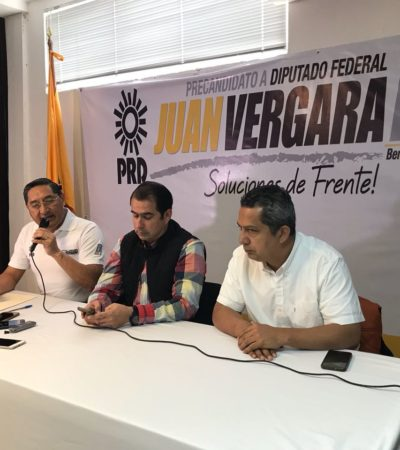 """DA PRD RESPALDO A JUAN VERGARA: """"Los partidos no son propiedad de un grupo"""", señala ante opositores de su candidatura por el Frente en el Distrito 03"""